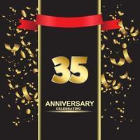 35 Jahre Jubiläum Vektor Vorlage Design Illustration
