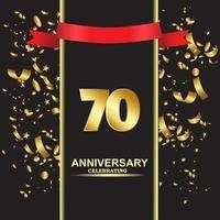 70 Jahre Jubiläum Vektor Vorlage Design Illustration