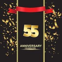 55 Jahre Jubiläum Vektor Vorlage Design Illustration