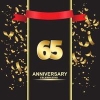 65 Jahre Jubiläum Vektor Vorlage Design Illustration