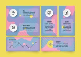 affärs- eller marknadsföringskoncept infografisk mall.