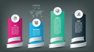 Infografik-Schablonendesign des Geschäftskonzepts. vektor