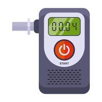 ein Gerät zur Bestimmung der Vergiftung einer Person. Alkoholtester auf weißem Hintergrund. flache Vektorillustration. vektor