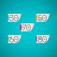 Verkauf Sonderangebot bis 80 30 50 70 60 nur zeitlich begrenzte Vektor-Vorlage Design-Illustration