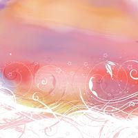 Abstrakt blommig akvarell bakgrund