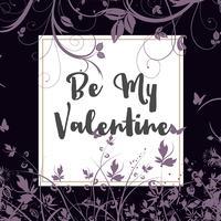 Seien Sie mein Valentinsgrußblumenhintergrund vektor
