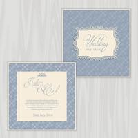 Rustikale Hochzeitseinladung vektor