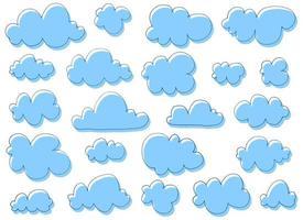 Hand gezeichnete Wolken Vektor Design Illustration