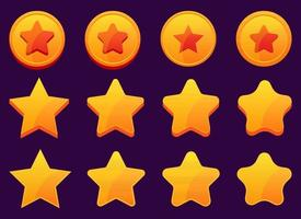 Handyspiel goldene Sterne Vektor-Design-Illustration lokalisiert auf Hintergrund vektor