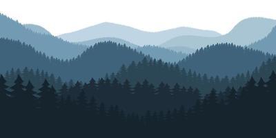 Waldlandschaft Hintergrund Vektor Design Illustration