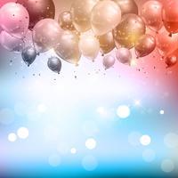 Ballonger och konfetti bakgrund