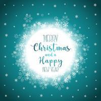 Weihnachten und Neujahr Hintergrund vektor