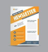 Business Newsletter Design und monatliches Journal Design vektor