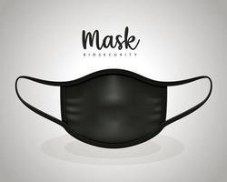 medicinsk svart mask vektor design