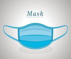 medicinsk blå mask vektor design
