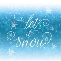 Låt det snöa bakgrunden vektor