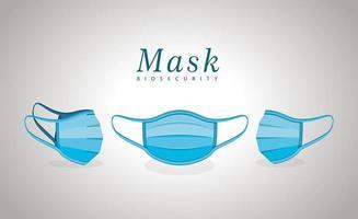 medicinsk blå masker vektor design