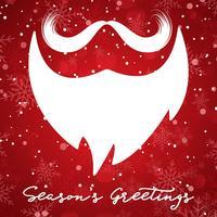 Jul bakgrund med Santa skägg vektor