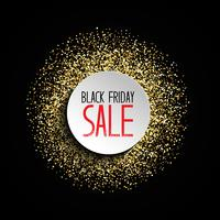 Glitter Black Friday-Verkaufshintergrund vektor