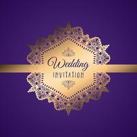 Dekorativ bröllopsinbjudan vektor
