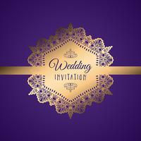 Dekorative Hochzeitseinladung vektor