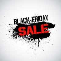 Grunge Black Friday-Verkaufshintergrund vektor