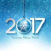 Snowy-guten Rutsch ins Neue Jahr-Hintergrund vektor
