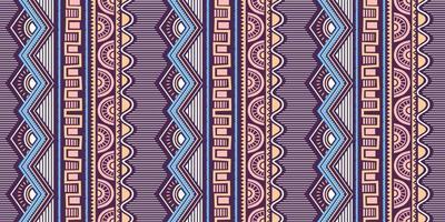 sömlös etnisk och stammönster. handritade dekorativa ränder. vektor