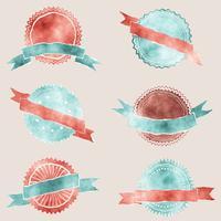 Akvarell märken med band vektor