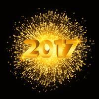 Frohes neues Jahr Feuerwerk Hintergrund vektor