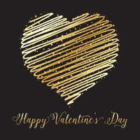 Guld hjärta bakgrund vektor