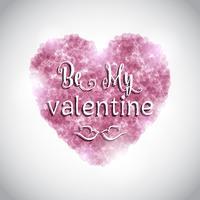 Alla hjärtans dag bakgrund med rosa hjärta vektor