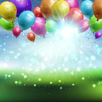 Ballonger bakgrund