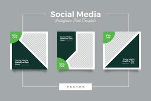 Social Media Green Bundle Vorlage