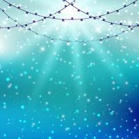 Lichter auf Starburst-Hintergrund