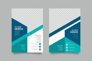 abstrakte Webinar blaue geometrische Flyer Vorlage vektor
