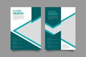 abstrakt modern grön geometrisk reklambladmall vektor