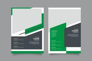 abstrakte grüne geometrische Fliegerschablone