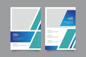 geometrische Flyer-Vorlage mit abstraktem Farbverlauf vektor