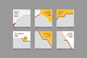 gelbe Geschäftsmarketing-Social-Media-Beitragsvorlage