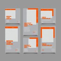 Social Media Orange cooles Theme Bundle Kit Vorlage