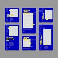 Urban Fashion Stories und Post Collection Set vektor