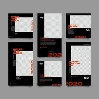Verkaufsförderung und Streetwear Social Media Banner Template Set vektor