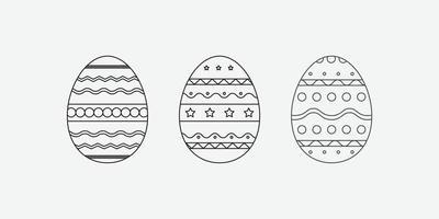 Osterei-Symbol. Novruz traditionelle Gebäckvektorikone vektor