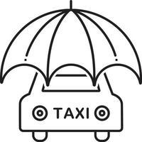 linje ikon för kommersiell bilförsäkring vektor