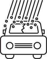 linje ikon för hagelskador vektor