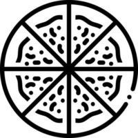 linje ikon för pizza vektor