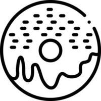 linje ikon för munk vektor