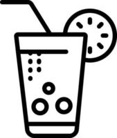 Liniensymbol für Erfrischungsgetränk vektor