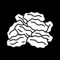 Glyphen-Symbol für Rosinen im dunklen Modus vektor